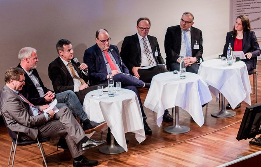 Clusterkonferenz: Podiumsgespräch zum Thema Industrie 4.0