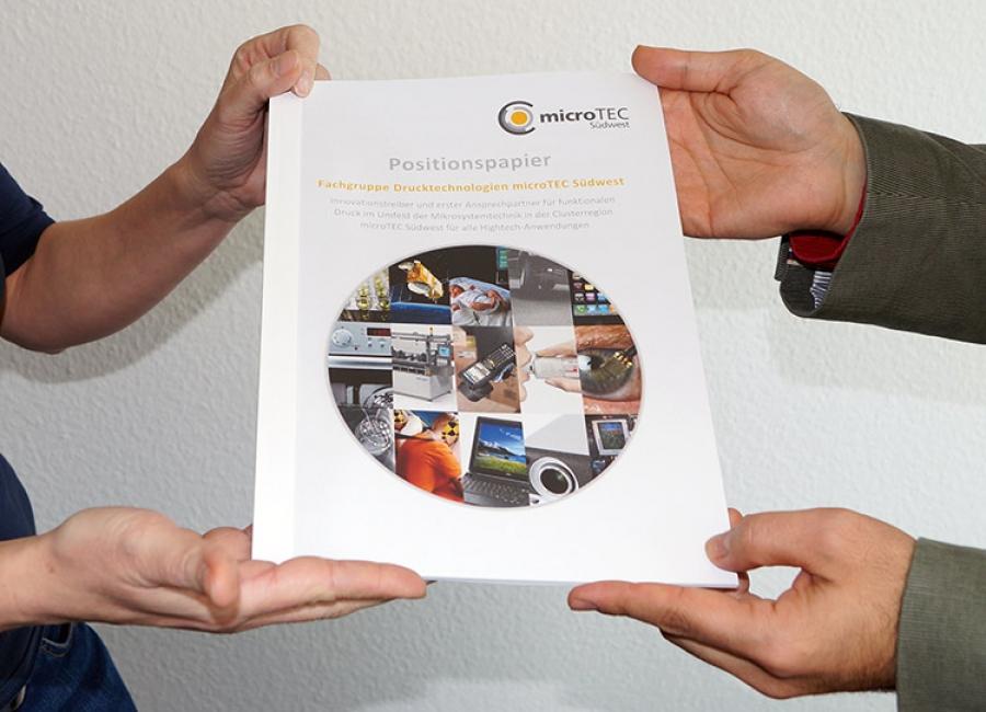 microTEC Südwest veröffentlicht Positionspapier zum funktionalen Druck