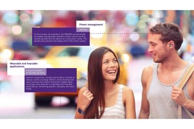 Der BMA456 von Bosch Sensortec integriert stromsparende Hearable-spezifische Gesten wie Tap, Double-Tap und Triple-Tap, um das Gerät intuitiv zu bedienen. Nutzer können damit beispielsweise das Abspielen von Songs oder Sprachnachrichten komfortabel steuern, die Lautstärke verändern oder Anrufe annehmen und ablehnen.