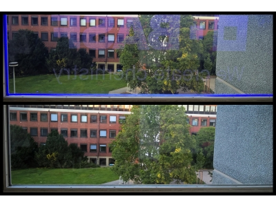 Transparency of the functional glass (unlighted/lighted)